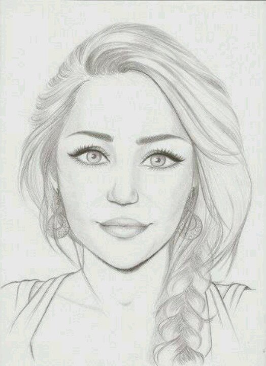 Miley Cirus My Style Drawings Pencil Drawings Art