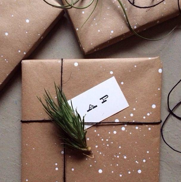 DIY Splatter paint gift wrap