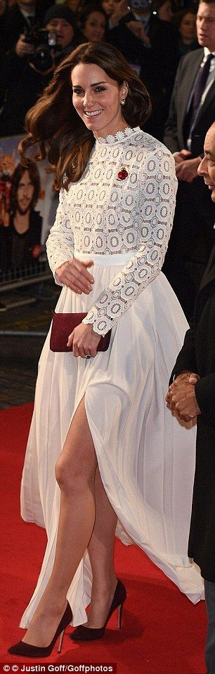 The royal oozes glamour in a £320 Self Portrait gown at the premiere of  A Street Cat Named Bob on 3rd November