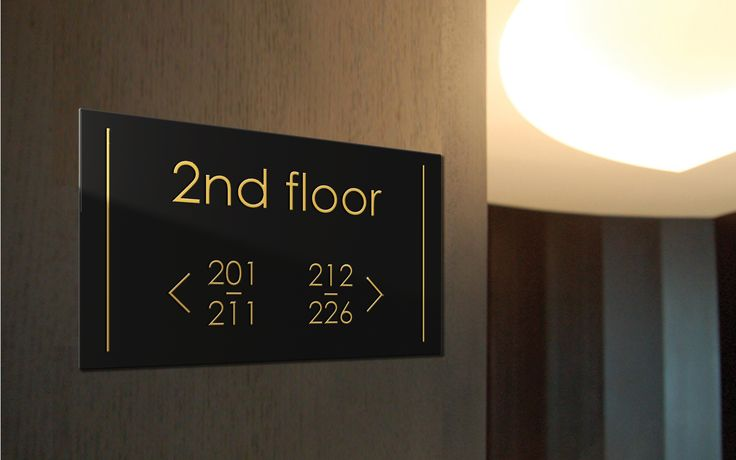 Way finding signage designed to compliment your interior.