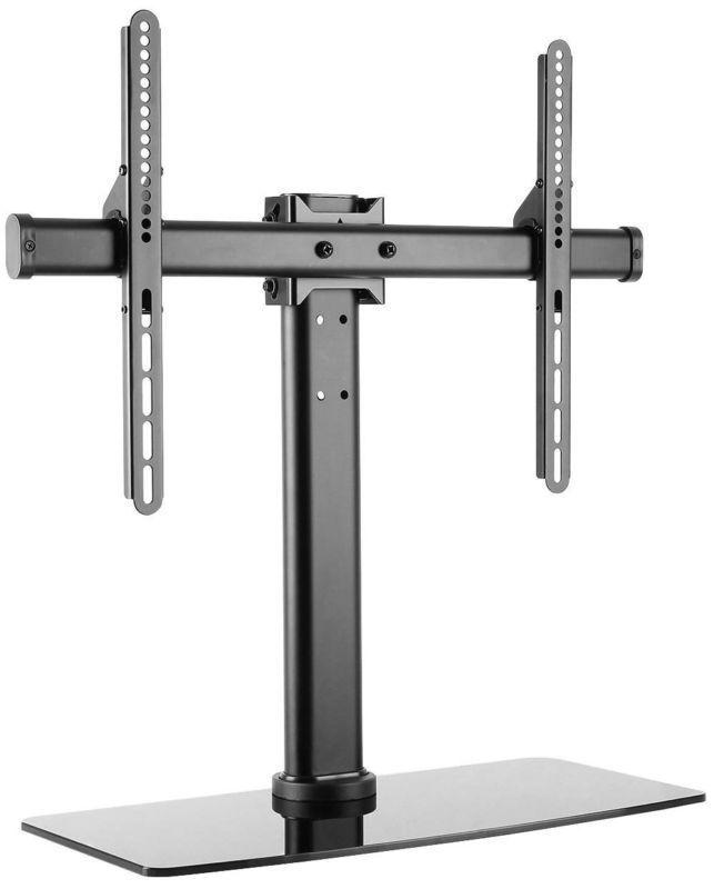 Universal Tv Stand Swivel Tilt Pedestal Flat Panel Screens 32 To 55 Inch Black G
