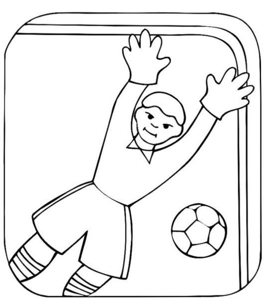 field goal coloring pages - photo#14