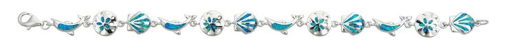 Sterling Silver Created Opal Nautical Bracelet. STERLING SILVER: This product is made of solid 925 Sterling Silver and each piece is carefully trademarked with the metal purity for certification. Each piece is stamped 925 and that guarantees the quality and craft. DESIGN & FINISH: We understand gold and we really understand the manufacturing process of precious metal. Each piece is carefully designed from scratch by our design department and we present to you our finished product. We…