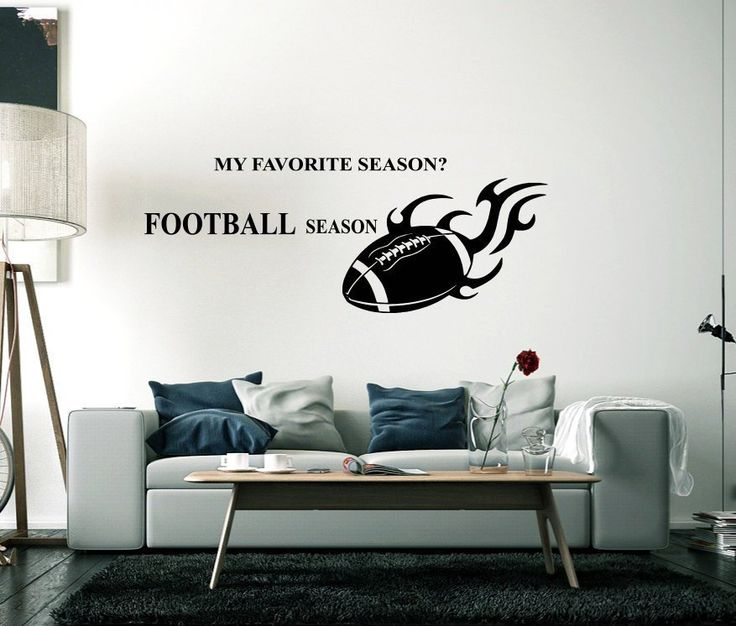 American Football Wall Decal Player Sport Motivational Inspiring Quote Team Boys…