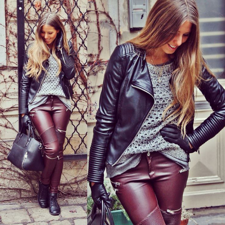 #bikerlook #leatherpants #zara one of my favorite Looks at The Moment ❤️ all details on my Blog www.gefuehlspinselei.com