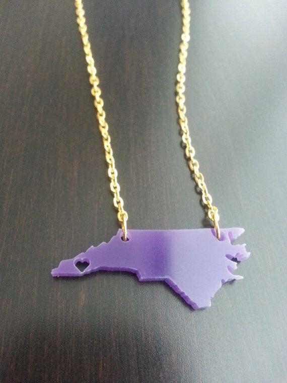 Personalized Western Carolina Necklace by KellyAndPavelDesign