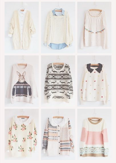 *Sweaters Galore* +Varieties of cute sweaters and some with collar shirts underneath!+ ^-^