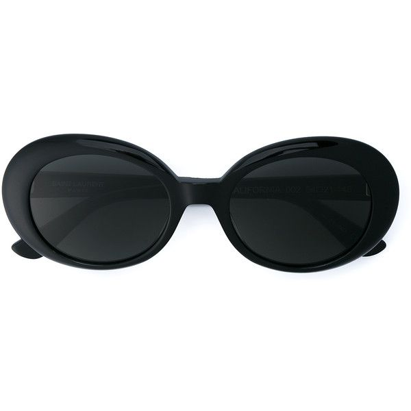 SAINT LAURENT California Oval Sunglasses (33375 RSD) ❤ liked on Polyvore featuring accessories, eyewear, sunglasses, yves saint laurent sunglasses, engraved glasses, oval sunglasses, glitter glasses and yves saint laurent