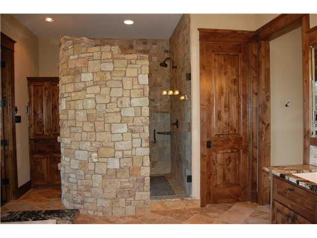 cool shower ~ this is what I had in mind, except with glass blockCabin, Shower Bathroom, Glasses Block, Master Shower, Cool Shower, Beds Bathroom, Amazing Shower, Barns House, Barn Houses