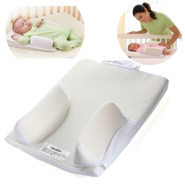 """This is a comfortable support when baby sleeps. Crib wedge feature elevates baby's head to help ease breathing. Patented curved bumpers conform to baby's natural shape when side sleeping. """"Turn Head"""" tab encourages caregivers to turn infant's head each night, helping to reduce the risk of flat head syndrome (Positional Plagiocephaly). $13.99 allizonmydeals904 Seller On ebay"""