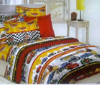 Sprei Motif M003 | Katun Panca (tekstil CVC) | 2 mingguan * ukuran single: lebar 120, 1 bantal, 1 guling