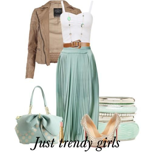 mint maxi skirts, Summer casual wear for woman http://www.justtrendygirls.com/summer-casual-wear-for-woman/