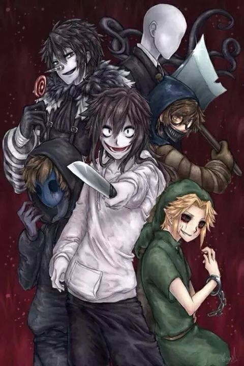 CreepyPasta // Jeff the Killer // Ben Drowned // Slenderman // Eyeless Jack // Laughing Jack // Ticci Toby