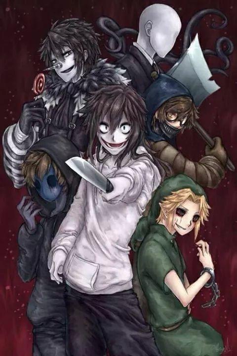 CreepyPasta // Jeff the Killer // Ben Drowned // Slenderman // Eyeless Jack // Laughing Jack // Ticci Toby