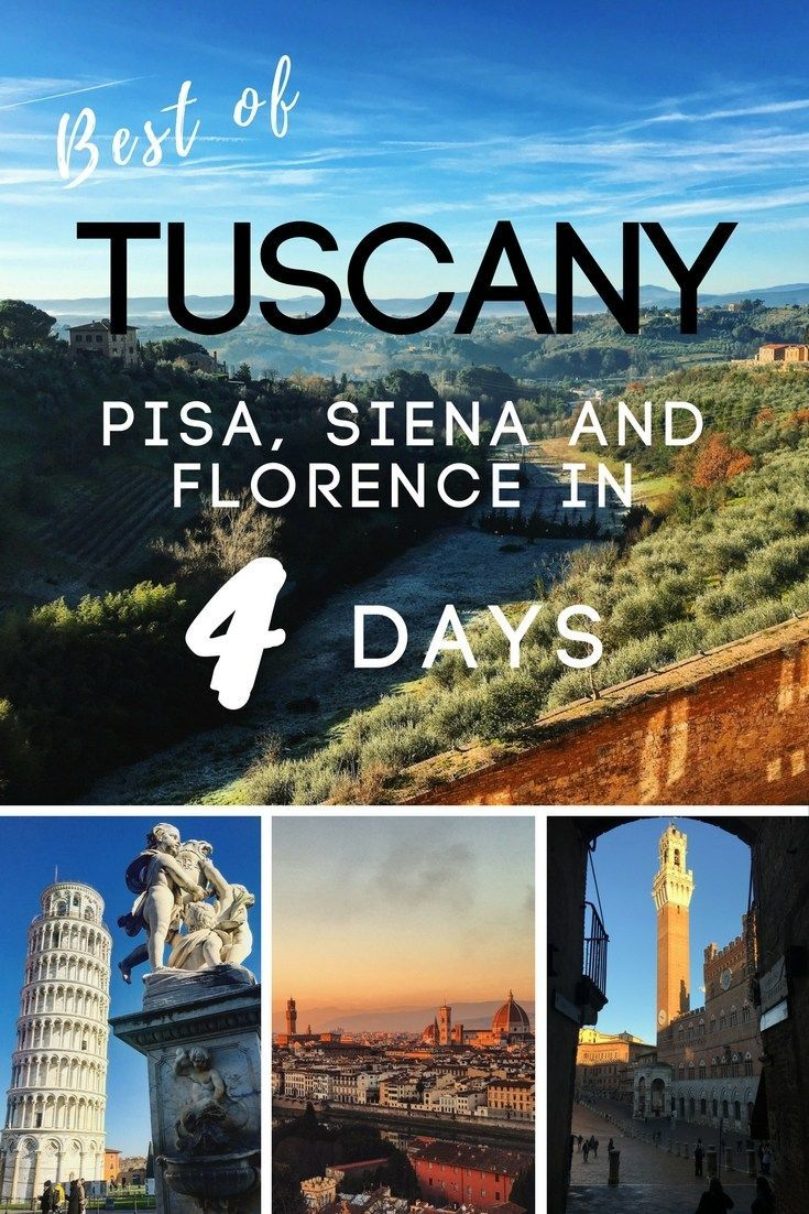 Planning a trip to Tuscany? You'll want to check out this post for the best things to do, especially if you're on a tight schedule! Find out how to travel Pisa, Siena and Florence in 4 days.