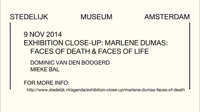 Life and death are two traditional themes that Marlene Dumas has reinterpreted and translated into her contemporary artistic practice. In this Exhibition Close-up, two celebrated experts from the art world will discuss the paintings in the Marlene Dumas: The Image As Burden retrospective on the basis of these conflicting but strongly interrelated subjects in her oeuvre.     See more at: www.stedelijk.nl/en/calendar/exhibition-close-up/marlene-dumas-faces-of-death-the-image-of-life
