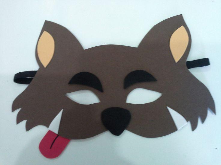 mascara lobo mau em eva, lembrancinha para os meninos na festa da chapeuzinho vermelho. Pedido minimo 5 peças.