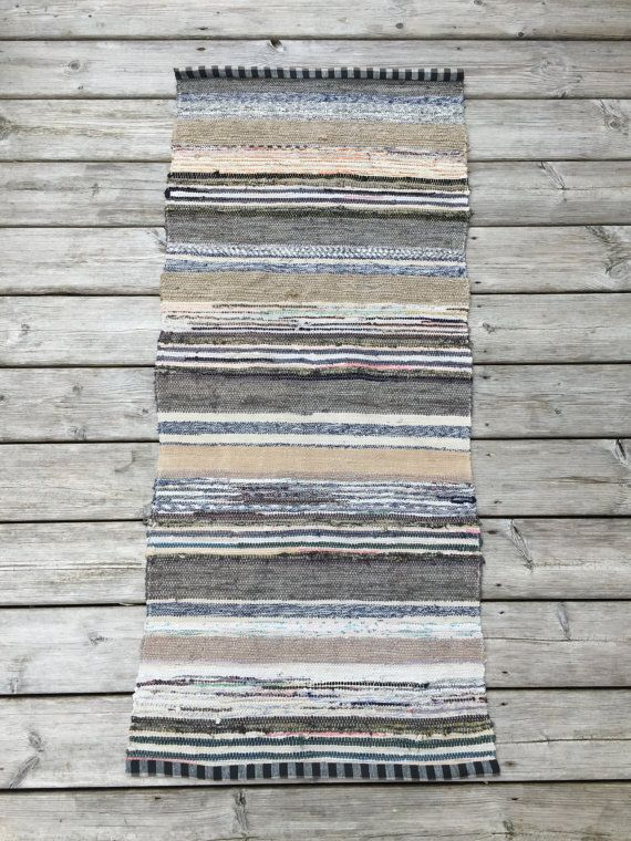 1.40m Vintage European Rag Rug Multi Colored by BeyondFranceLTD