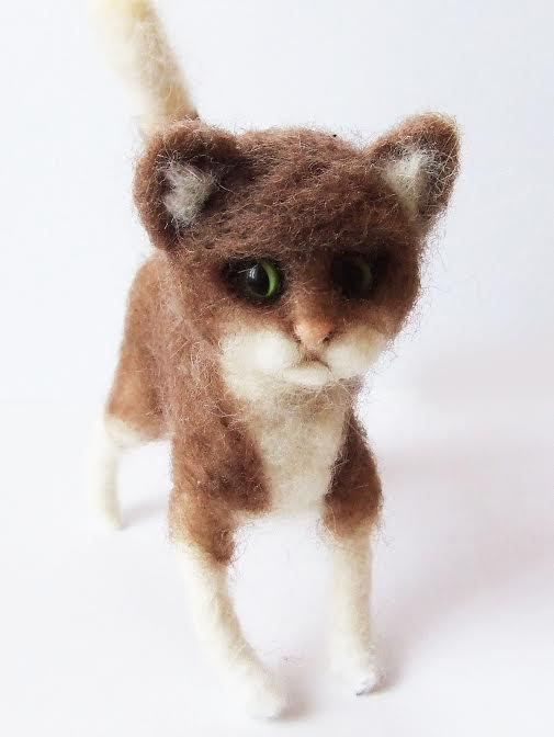 sweet Cat  needle felted miniature beautiful animal toys  handmade #11 #nutka_art #AllOccasion