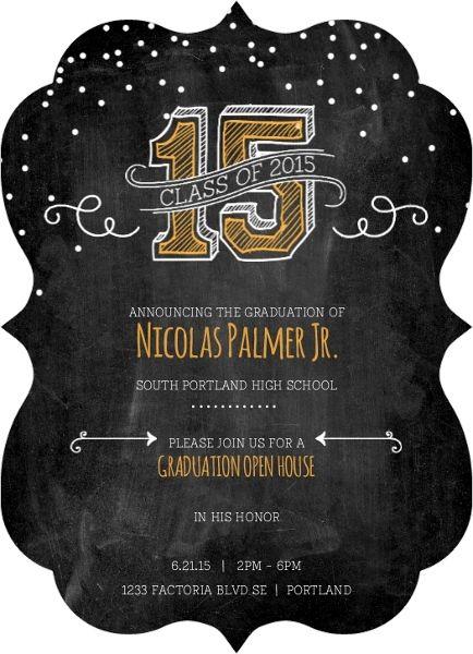 Antique Chalkboard Graduation Invitation Card by InviteShop.com. #graduationpartyideas #graduationinvitations #graduationannouncements