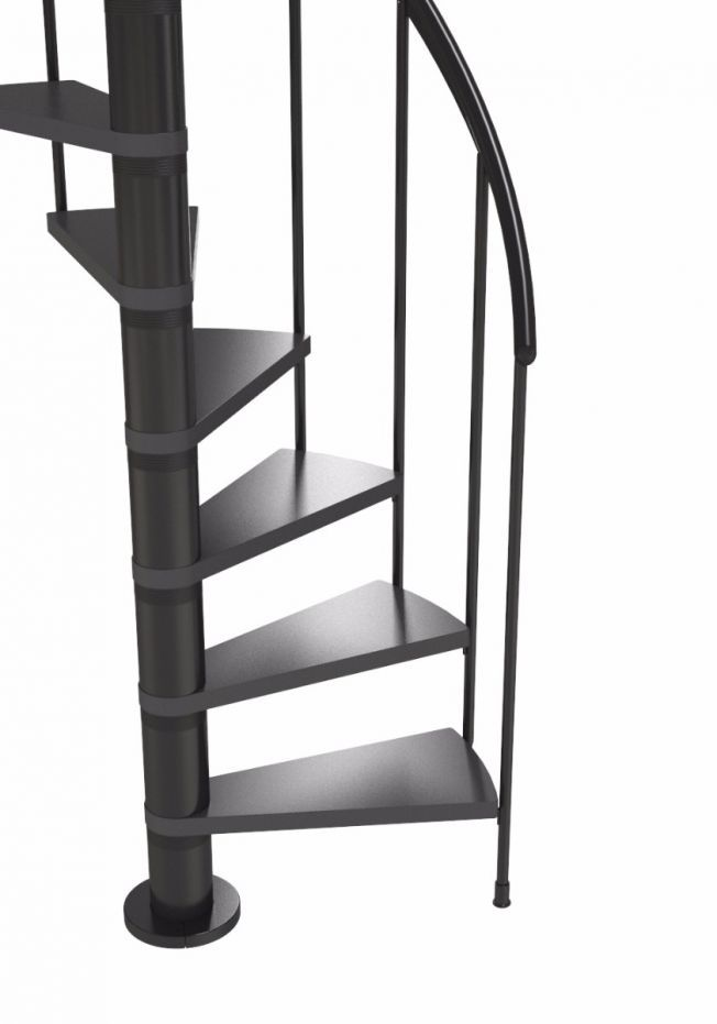 Best Dolle Calgary Anthracite Spiral Stair Kit 1200Mm In 2020 640 x 480