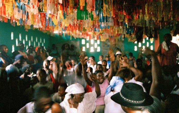 Worshippers at a vodou ceremony in Port-au-Prince, Haiti