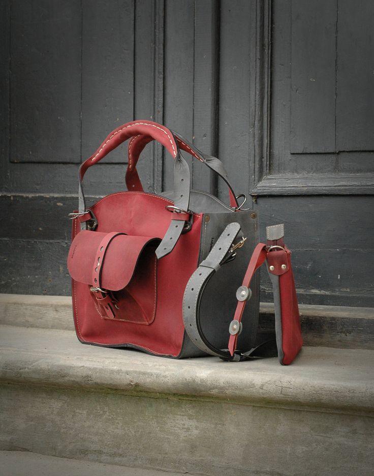 leather bag handmade kuferek shoulder bag ladybuq art by ladybuq on Etsy https://www.etsy.com/listing/229291289/leather-bag-handmade-kuferek-shoulder