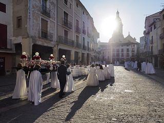 """Setmana Santa per la plaça del Mercat (processó de la """"Camilla"""")"""