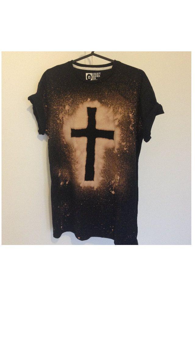 diy grunge bleached shirt