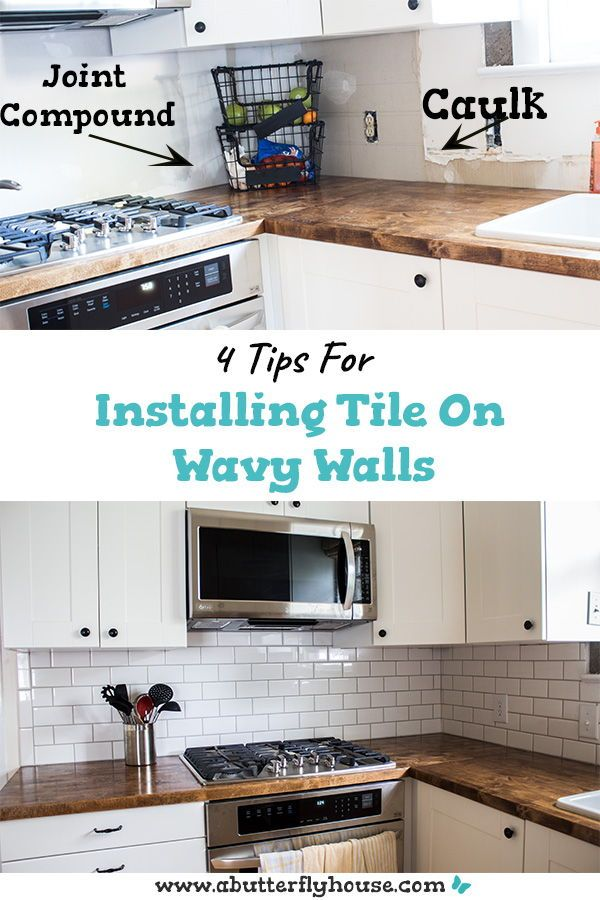 How to Install Tile on Wavy Walls