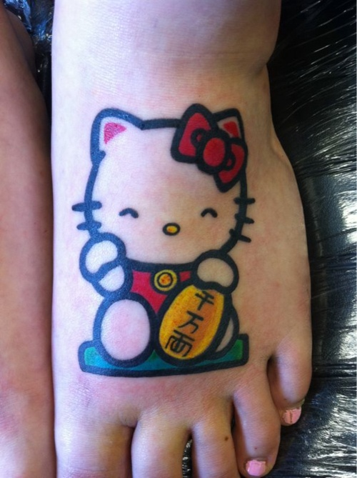 I don't like HK enough to get her tattoo'd but this is really cute!