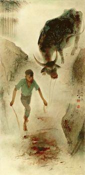Lee Man Fong - Boy and Buffalo