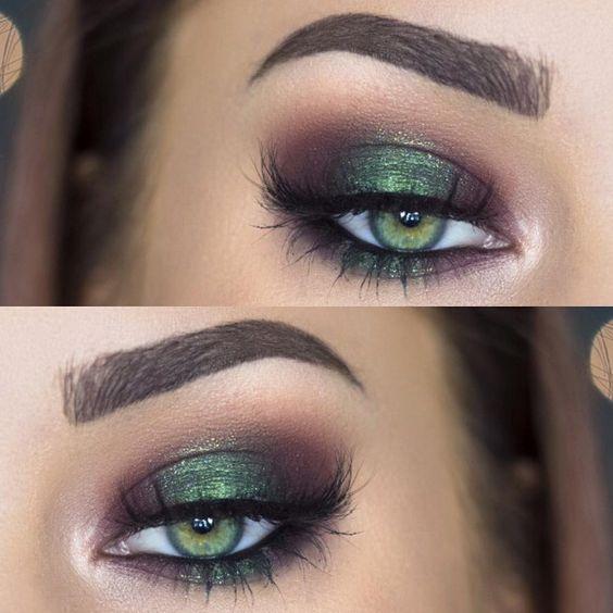Groene smokey eye