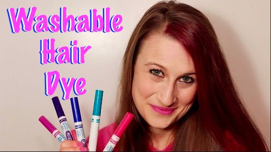 Make Your Own Washable Hair Dye Out Of Crayola Markers