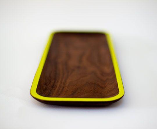David Rasmussen wooden tray: Natural Woods, Au Natural, David Rasmussen, Wooden Trays, Rasmussen Design, Wooden Plates, Danishes Modern, Dark Blue, Modern Design