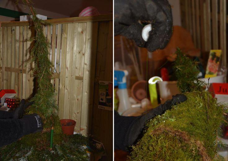 Gjør det selv da vel! Slik lager du koselige mosenisser til å pynte til jul med i hagen.