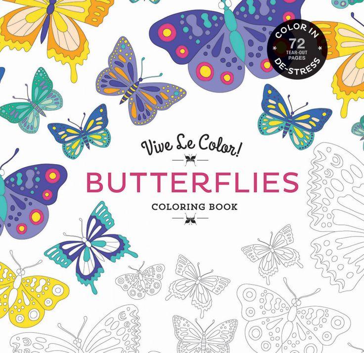 Vive Le Color Butterflies Softcover Adult Coloring Book Paisley Designs 72