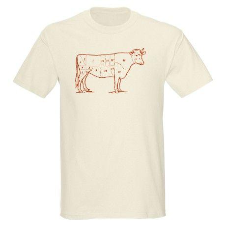 Retro Beef Cut Chart Light T-Shirt