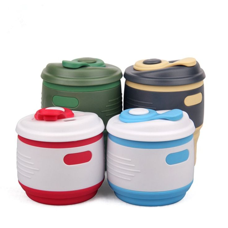 Silicone 350ml Collapsible Travel Water Cup Portable Coffee Tea Drink Pot Milk Mug Outdoor Hiking Drinkware Folding Water Kettle
