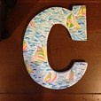lillY PULITZER inspired gotta go regatta monogram sorority dorm letter