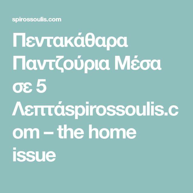 Πεντακάθαρα Παντζούρια Μέσα σε 5 Λεπτάspirossoulis.com – the home issue