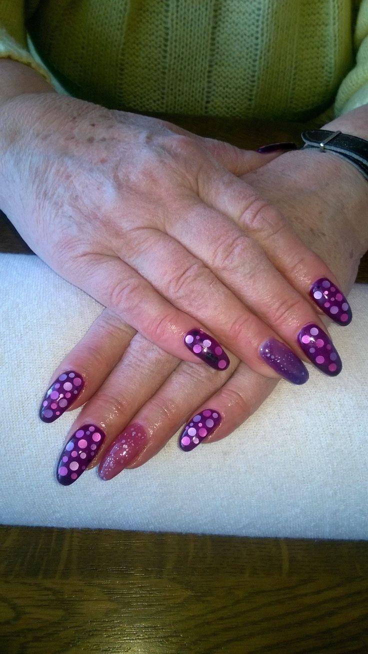 purple gel, temperature gel, pink,purple point