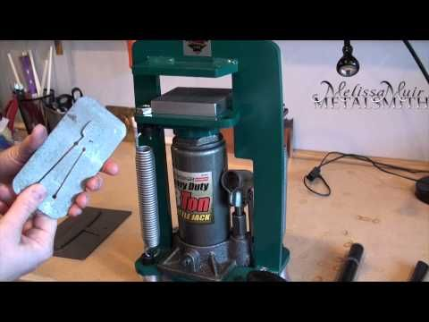 Tool time tuesday potter usa pancake die cutting press for Metal stamping press for jewelry