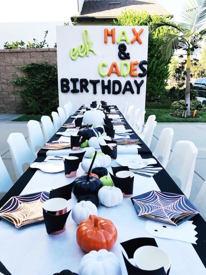 Spooky Halloween Birthday Party Kara S Party Ideas Birthday Halloween Party Halloween Themed Birthday Party Halloween First Birthday