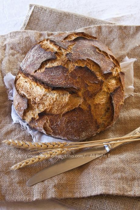 Pane senza impasto integrale