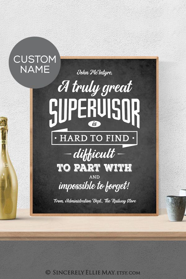 Supervisor Gift Male Supervisors Appreciation Custom Gifts Etsy Supervisor Quotes Supervisor Gifts Chalkboard Wall Art