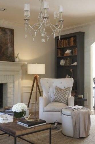to do on our fireplace. Love the moulding, the white painted brick!