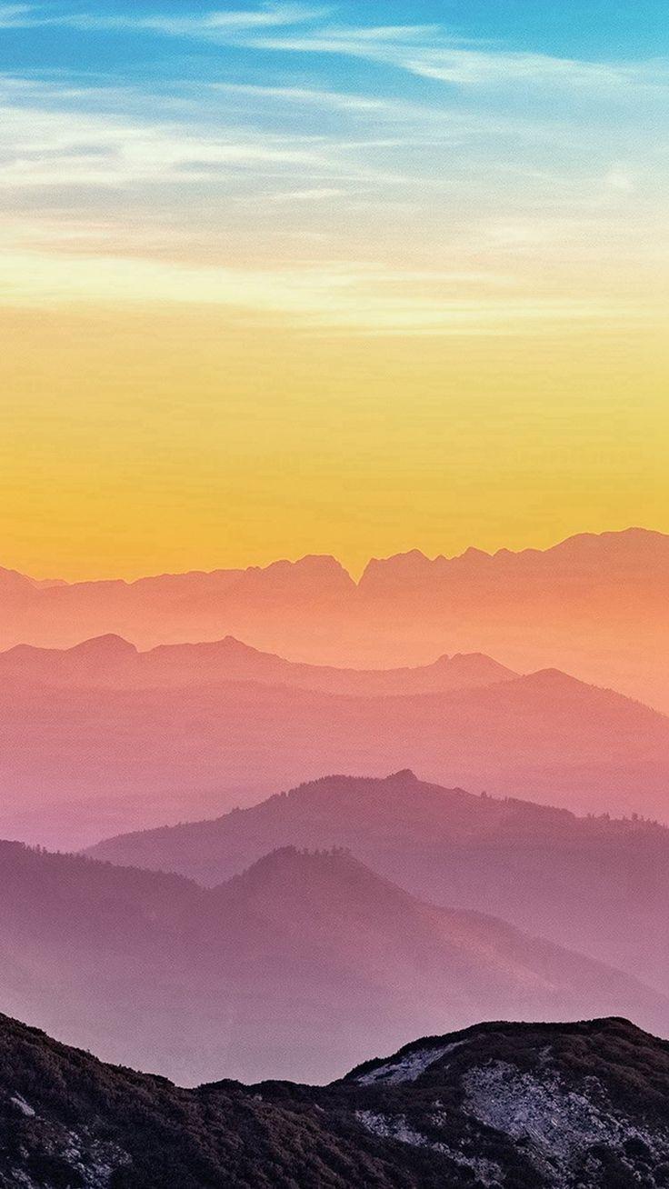 Ios 11 Hd Wallpaper Rainbow Mountain Color Nature Iphone 8 Wallpaper