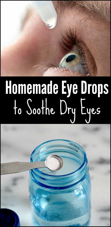 Zelfgemaakte oogdruppels te kalmeren droge ogen