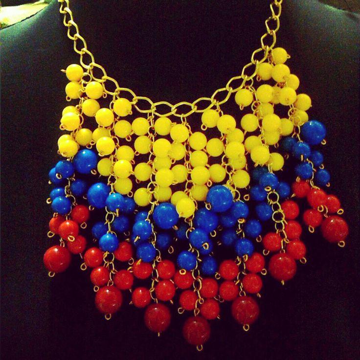 Collar accesorio tricolor colombia glamour